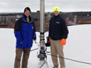 Wayne Mahar and Chris McGrath on Carrier Dome Roof